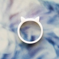 Kitty Ring by iluxo on Etsy