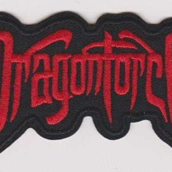 Dragonforce Iron-On Patch Red Letters Logo