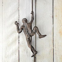 Rock climber, Climbing Figure on the rope, Metal art, sports decor, decorative art