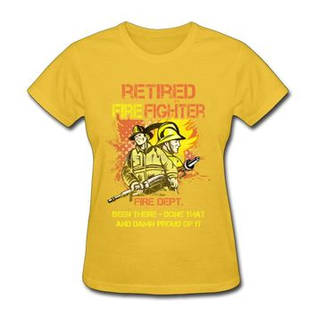 Tee Shirts Women Retired Firefighter Natural Cotton Brand Tee Young Round Neck Great Discount Make A Tshirt