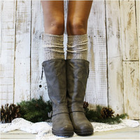 ALPINE  tall knee socks -  oatmeal