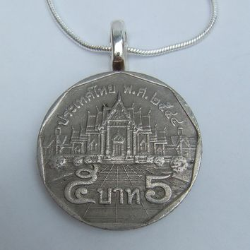 Thai coin necklace