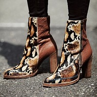 Womens Baroness Heel Ankle Boot
