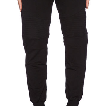 Stampd Essential Moto Warm Up Pants in Black