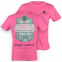 Simply Southern Preppy, Classy, Happy Shirt - Pink