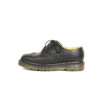 4 UK | Dr Martens black leather brogue wingtip oxfords / Made in England / 3989/59 / 90s docs / womens shoes size 4 uk / 6 us / 37 eur