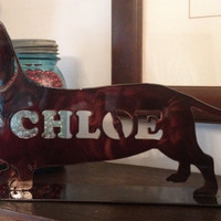 Dachshund on a stand    FREE SHIPPING