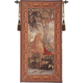 Le Point Deau Cheval  European Tapestry Wall Hanging