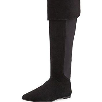 Tory Burch Boots Suede Leather Kevin Riding TB Over-the-Knee Boot