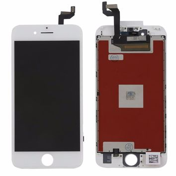 LCD Display and Touch screen Digitizer for iphone 6S Professional Phone Replacement Screen black and white Free shipping