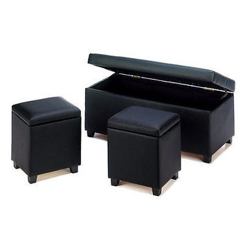 Urban Storage Trunk and Stools