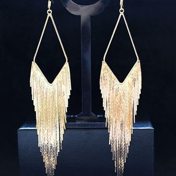 Popular Fashion Dangle Earring Elegant Large Earrings Long Design Vintage Tassel Earring Drop Dangle Earring = 1958046020