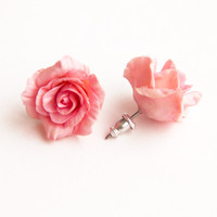 Pink  earrings, Jewelry,  Gift,earrings, earrings with flowers, flower