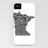 Typographic Minnesota iPhone Case by CAPow! | Society6