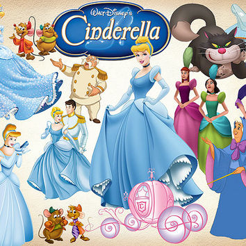 74 Cinderella Clipart Drizella PNG Digital Graphic Image disney Clip Art Scrapbooking Invitations INSTANT DOWNLOAD printable 300 dpi