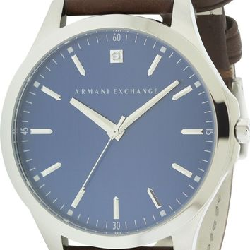 Armani Exchange Dress Leather Watch AX2181