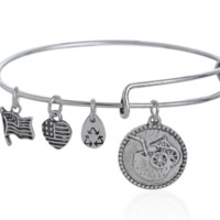 Alex and Ani  style fruit juice pendant charm bracelet