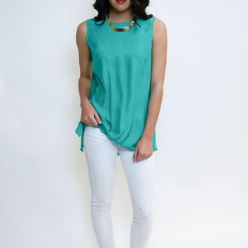 Silk Story Blouse - Teal