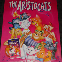 WALT DISNEY The ARISTOCATS rolled Movie promo poster for  video release