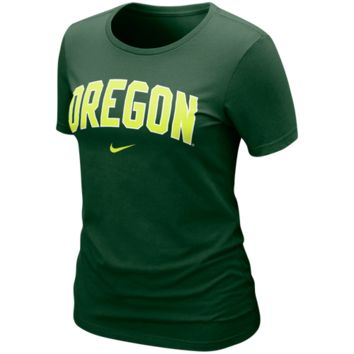 Nike Oregon Ducks Ladies Arch Crew T-Shirt - Green