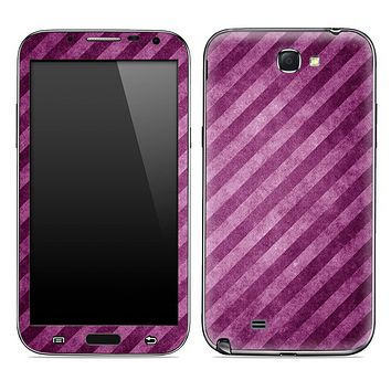 Grungy Slanted Purple Striped Skin for the Samsung Galaxy Note 1 or 2