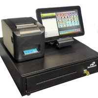 Complete Cutting Edge Point of Sale POS System with 10 Inch Touch Screen Cash Register Tablet. All Equipment is Plug N Play for Easy Set Up.