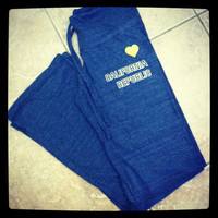 Alternative Ladies' Eco-Jersey I Heart/Love California Republic Lounge Pants - 1987