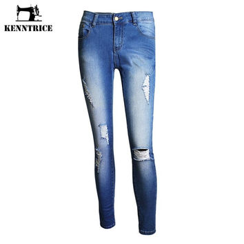 Punk Style New Sexy Slim Fit Thin Pencil Pants Fashion Skinny Jeans Women Denim Pants Trousers High Quality