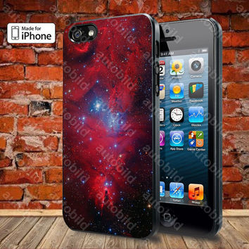 Red Galaxy Nebula Case For iPhone 5, 5S, 5C, 4, 4S and Samsung Galaxy S3, S4