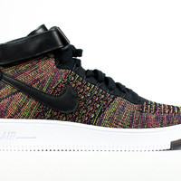 Nike Men's Air Force 1 Mid Ultra Flyknit Black Multicolor
