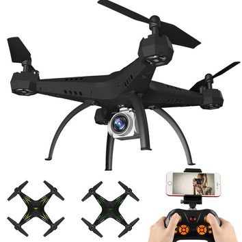 Big Shatter Resistant Selfie Drone With Camera Fpv Rc Drone 6-axis Rc Helicopter Wifi 4ch Quadcopter Toy For Children Ky501 Dron