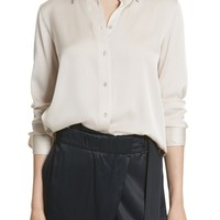 Vince Fitted Stretch Silk Blouse | Nordstrom
