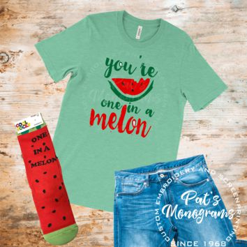 You're One in a Melon Tee and Sock Set