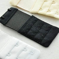 Pack of 3 Bra Clasp Extenders - Black/White/Nude