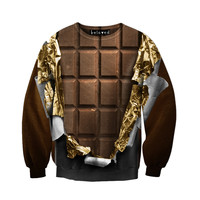 Gold Foil Chocolate Sweatshirt - READY TO SHIP