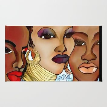 WOMEN OF COLOR Rug by violajohnsonriley