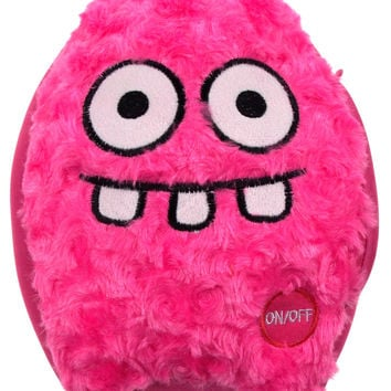 "Pink Rocket Head Pillow Color LED Light Up Flash Plush 10"" Microbeads Home Decor"