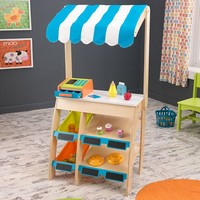 KidKraft Grocery Marketplace Play Set (Blue/White)