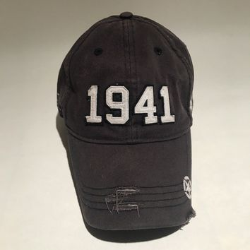 Jeep Wrangler 1941 Strapback Hat Adjustable Distressed American Hero Dad Cap