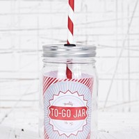 To Go Jar in Red at Urban Outfitters