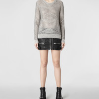 Womens Squro Sweater (Chalk) | ALLSAINTS.com