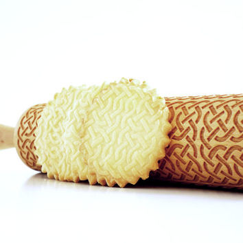 CELTIC KNOT  - Embossing rolling pin, laser engraved rolling pin.