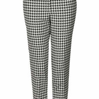 PETITE Dogtooth Cigarette Trousers - Multi