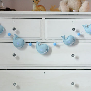 Whale Garland Blue Baby Boy Nursery