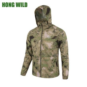 Skin Jacket Army Tactical Camouflage Men Thin Waterproof Raincoat  Breathable Hood Military quick-drying Clothes