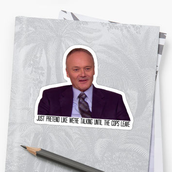'The Only Person Who Ever Stole from Creed Bratton' Sticker by TakeAHike