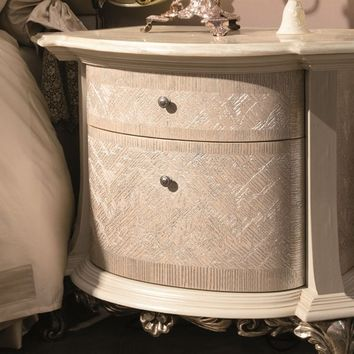 Lacquered bedside table with drawers PENELOPE Éclectique - Donna Mantellassi Collection by Mantellassi 1926