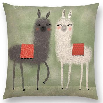 Abstract Fantasy Painting Cushion Cover Alpaca Sofa Pillow Case
