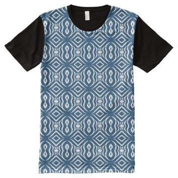 Blue Animal Pattern#14a American Apparel Buy Sale All-Over-Print Shirt