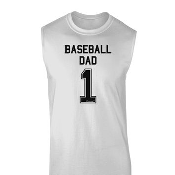 Baseball Dad Jersey Muscle Shirt  by TooLoud
